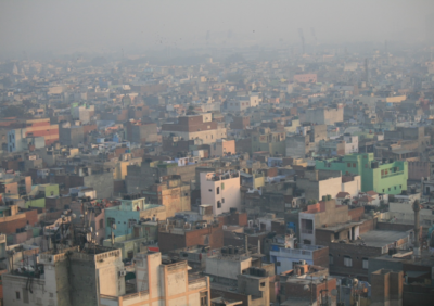 Air pollution in New Delhi, India. Photo: Jean-Etienne Minh-Duy Poirrier via Flickr. CC by SA 2.0.